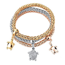 Load image into Gallery viewer, Save Sea Turtle Jewelry | Gold Sea Turtle Bracelet-seaxox.com