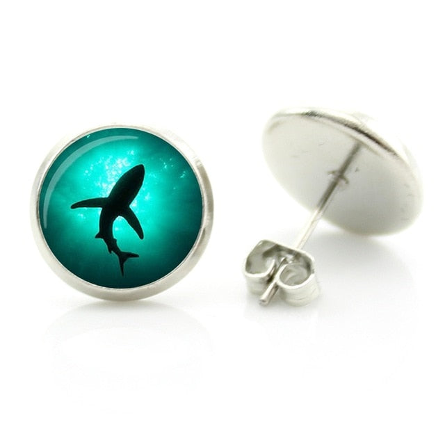 Save the Sharks Jewelry | Shark Earrings Stud-seaxox.com