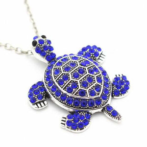 Save Sea Turtle Jewelry | Bling Tortoise Necklace-seaxox.com