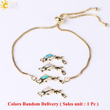 Load image into Gallery viewer, Save Ocean Animals Jewelry | Opal Dolphin Bracelet-seaxox.com