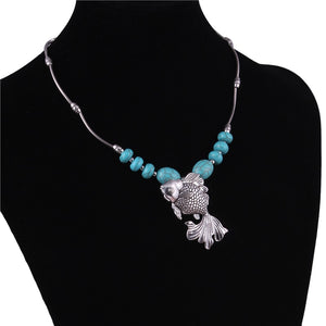 Save Ocean Animals Jewelry Necklace | Tibet Natural Stone Fish Necklace-seaxox.com