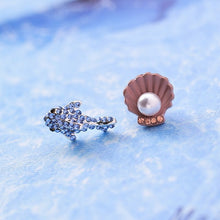 Load image into Gallery viewer, Save Sea Animals Jewelry | Cute Crab Shell Ocean Earrings-seaxox.com