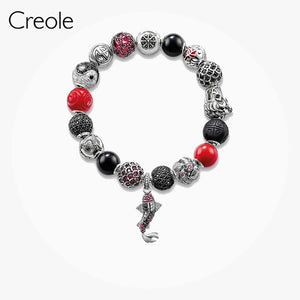 Save Sea Life Jewelry 925 Sterling Premium Lucky Koi Fish Karma Bracelet-seaxox.com