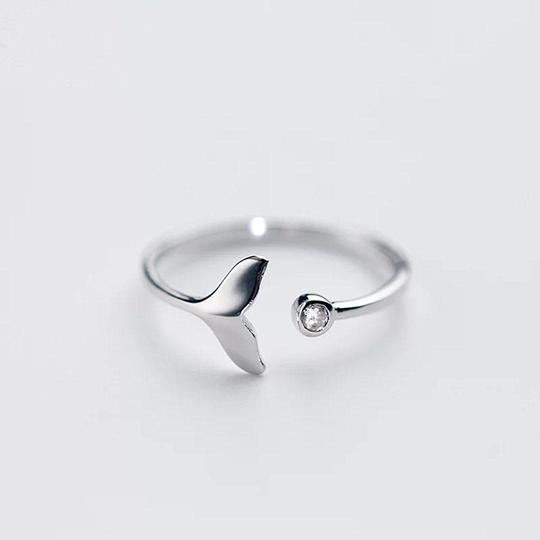 Save the Whales Jewelry | 925 Sterling Whale Tail Ring-seaxox.com