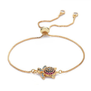 Save Sea Turtle Jewelry | Sea Turtle Bracelet Rainbow 3 Styles-seaxox.com