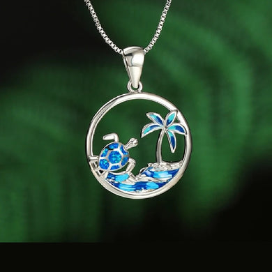 Save Sea Turtle Jewelry | Sea Turtle Necklace Tropics Gold Plated