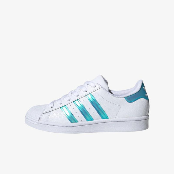 ADIDAS ORIGINALS Baskets Superstar Blanc/Bleu argenté Junior