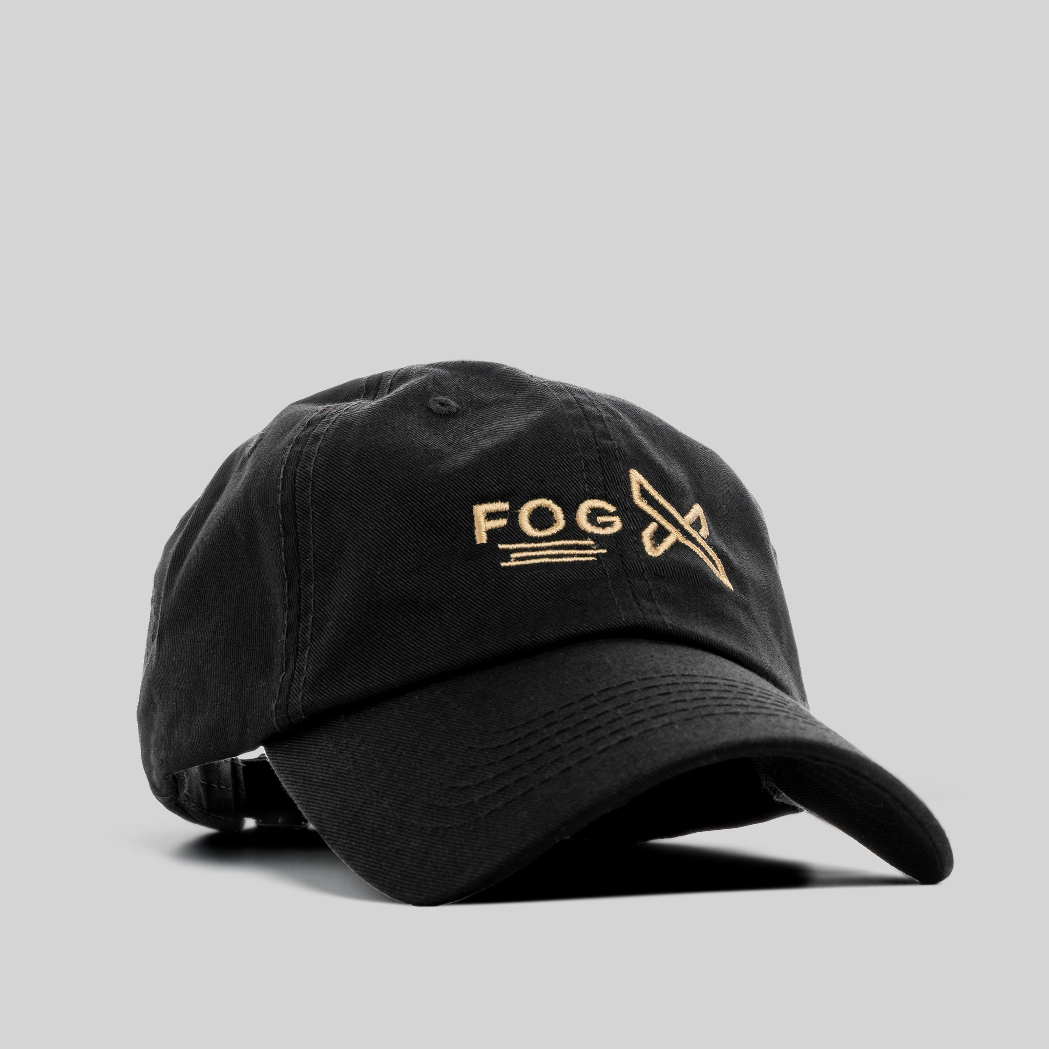 FOG X Logo Dad Hat Black Gold