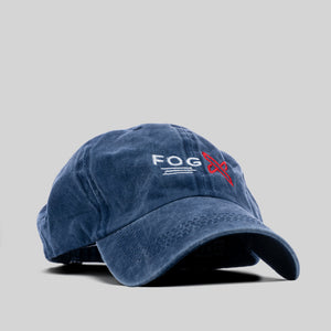 FOG X Logo Dad Hat Blue Distressed