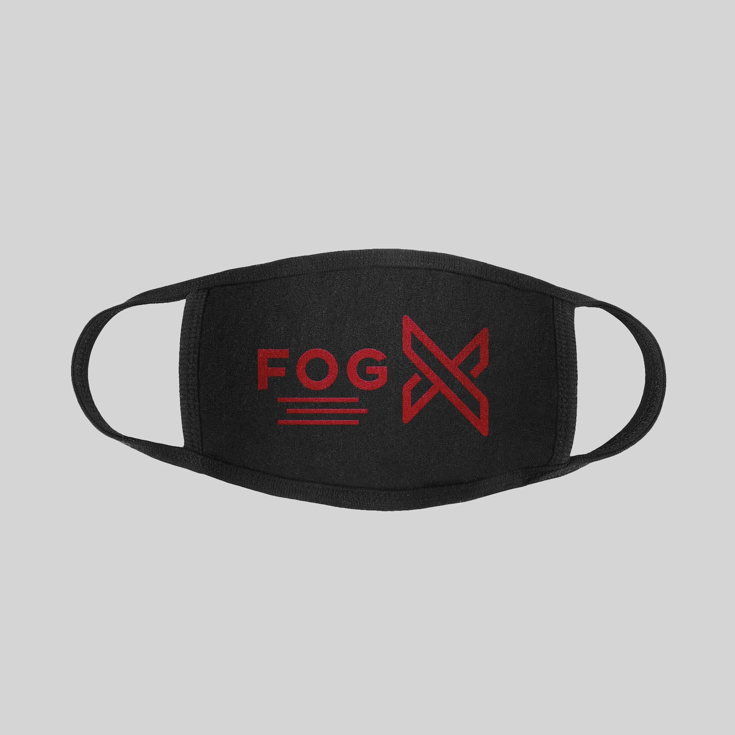 FOG X Logo Face Mask Burgundy