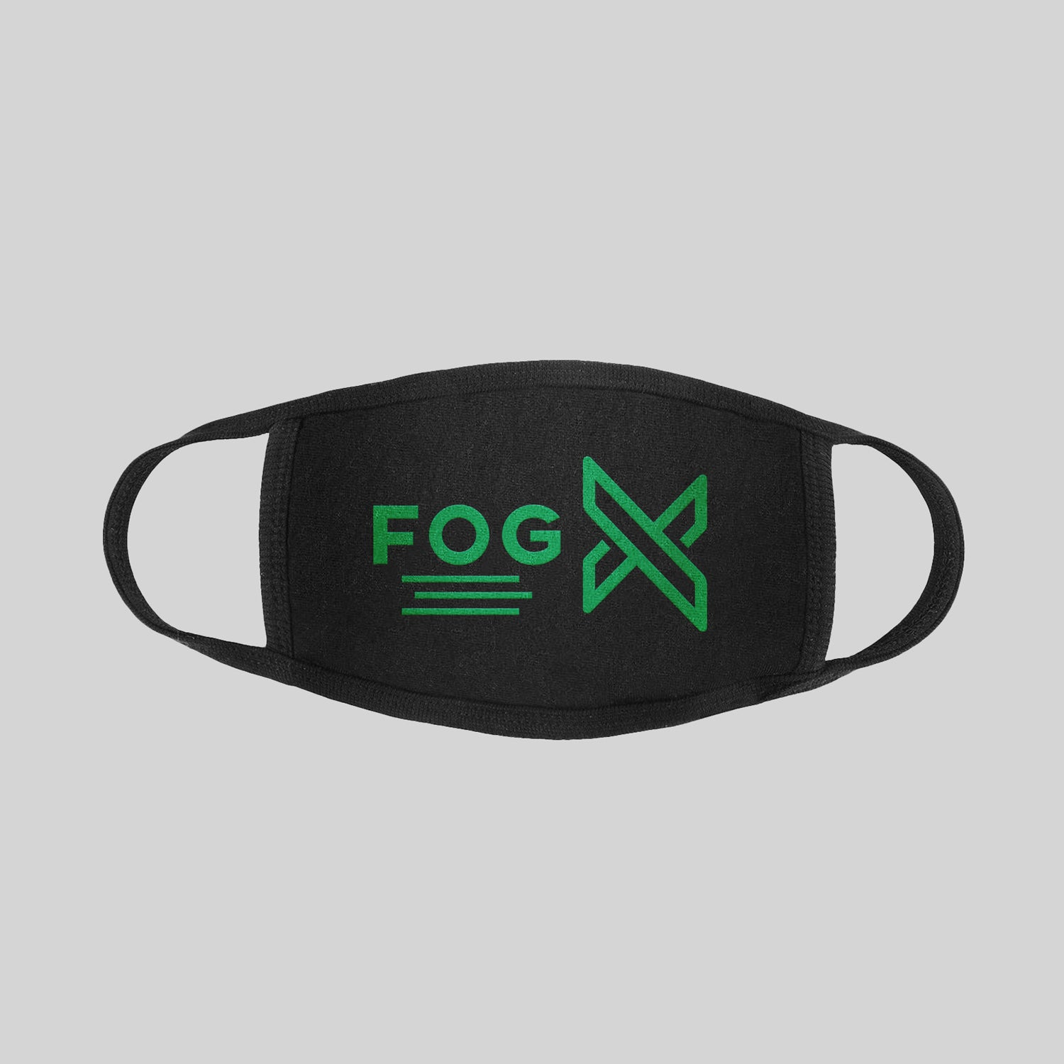 FOG X Logo Face Mask Green