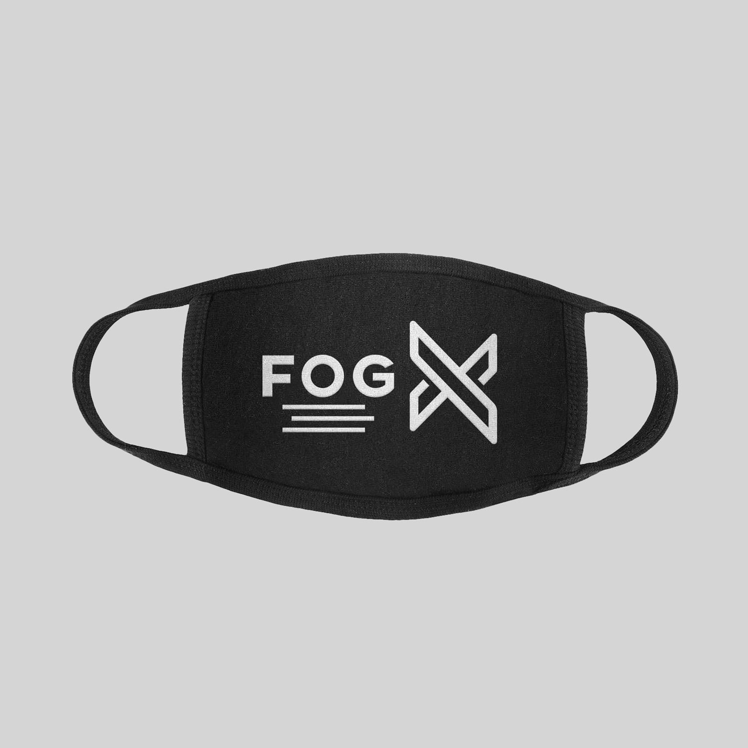 FOG X Logo Face Mask White