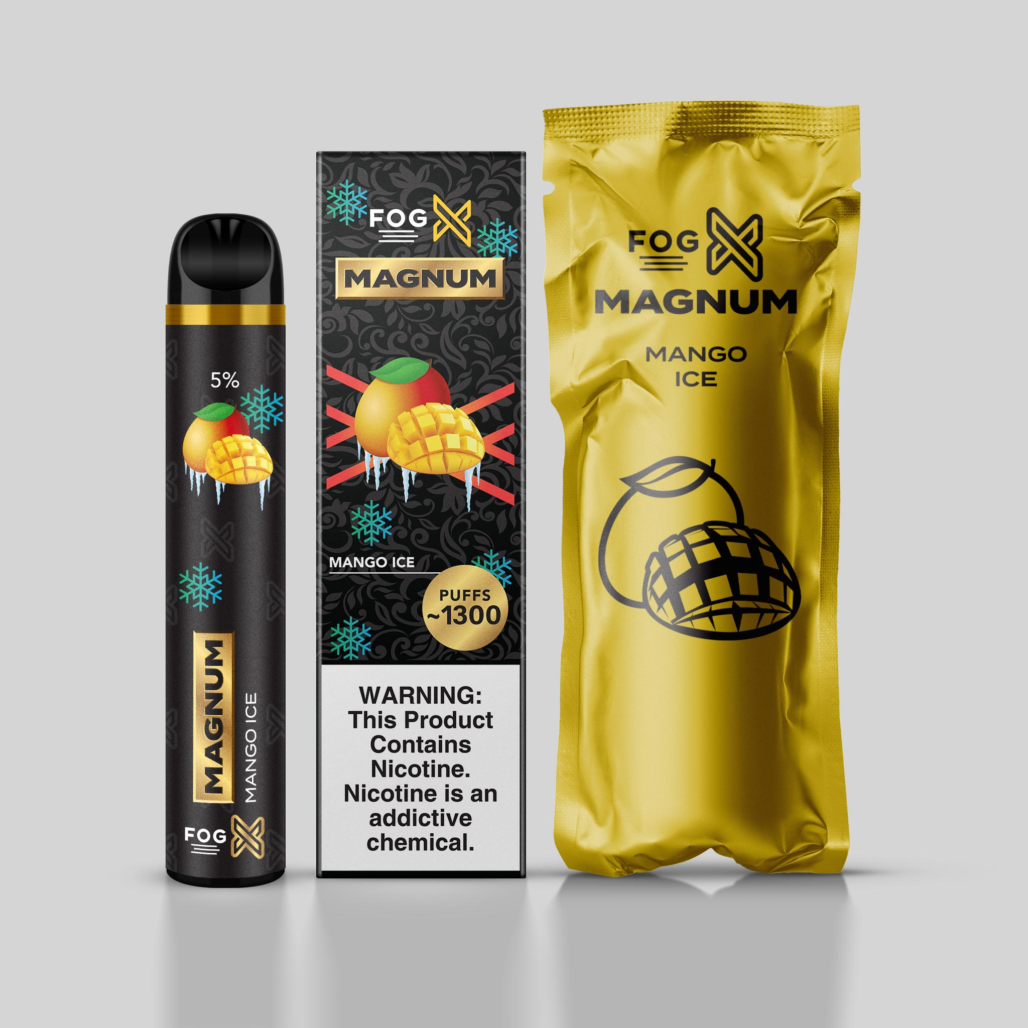 FOG X Vapor Magnum Mango Ice Disposable Vape Device