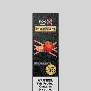 FOG X Vapor Magnum Strawberry Wafer Disposable Vape Device
