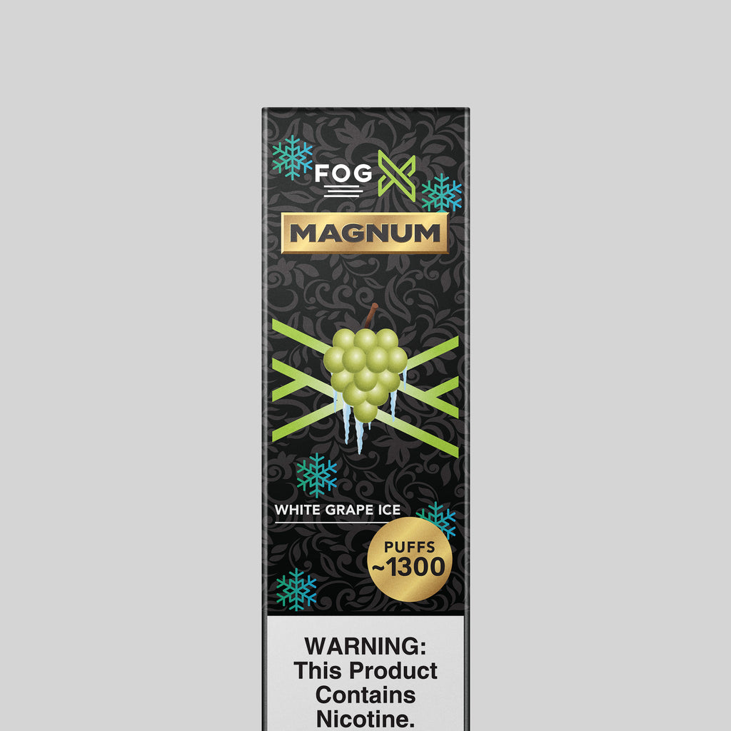 FOG X Vapor Magnum White Grape Ice Disposable Vape Device