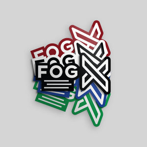 FOG X Logo Stickers
