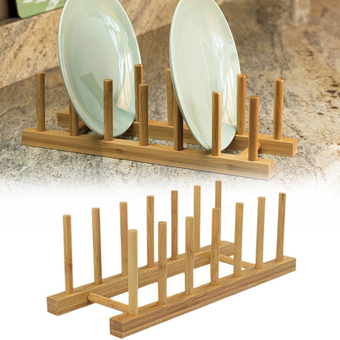 Bamboo Dish Shelf Rack Drainboard
