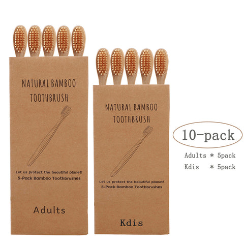10-Pack Parent child Suit Soft Bristle Toothbrush