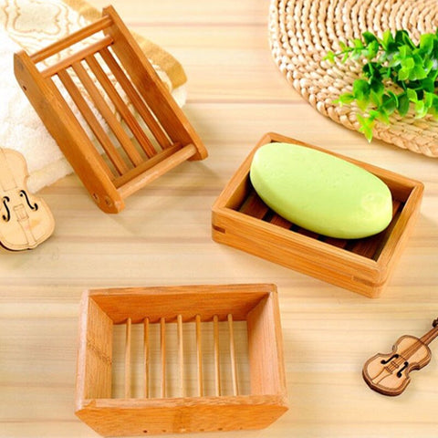Bamboo Soap  Drain  Box