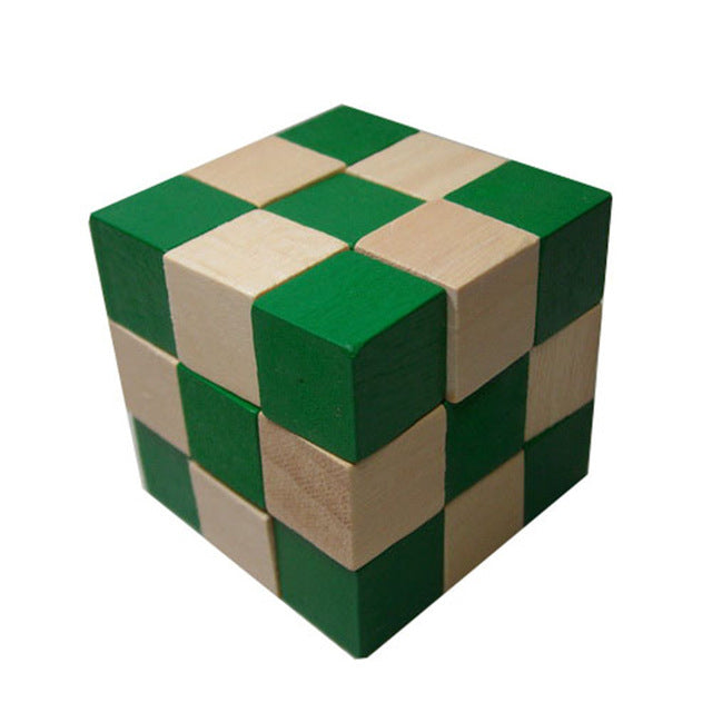 Traditional Wooden Brain Teaser Puzzle  Cube