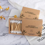 100/200/300pcs Bamboo Cotton Swab