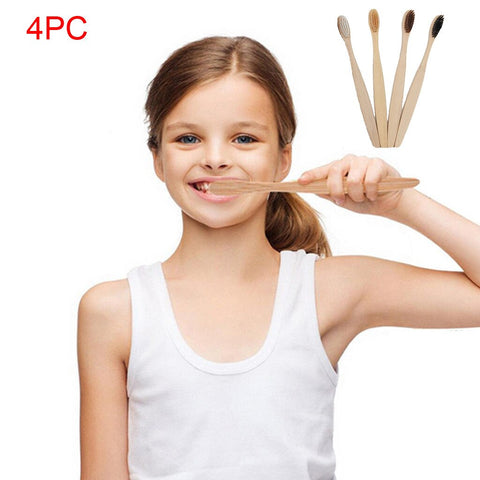 4Pcs Family Soft Bamboo Toothbrush