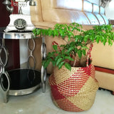 Natural Seagrass Laundry Basket