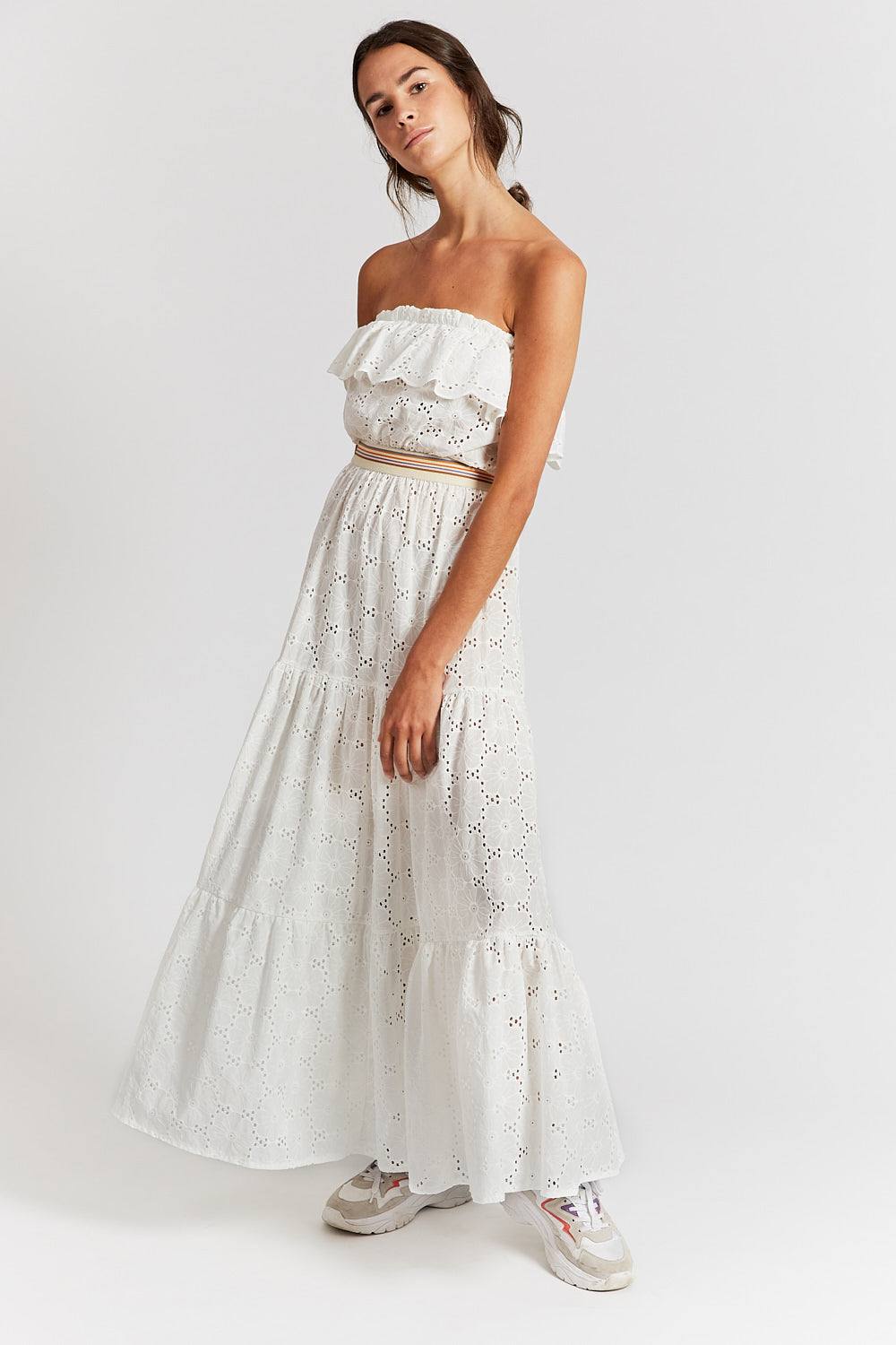 """JOANNA"" LONG DRESS OFF-WHITE"