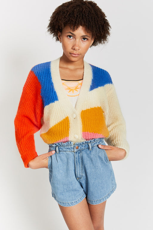 """JANNIS"" KNIT-CARDIGAN PAPAYA"