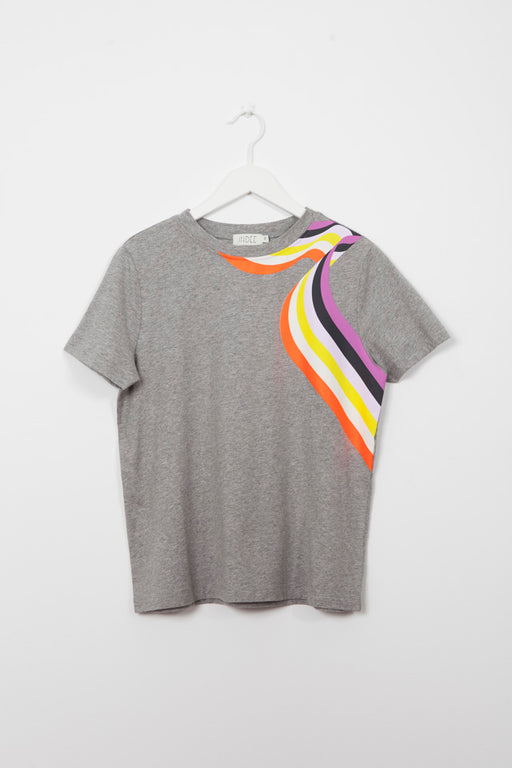 GABY RAINBOW GREY  T-SHIRT