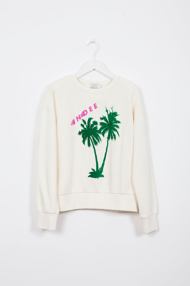 GINGER PALMS ICE SWEATER