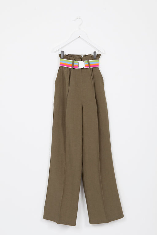 GOELAND CROCODILE TROUSER WITH BELT