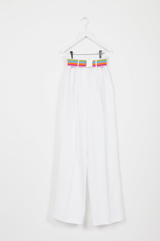 GOELAND WHITE TROUSER WITH BELT
