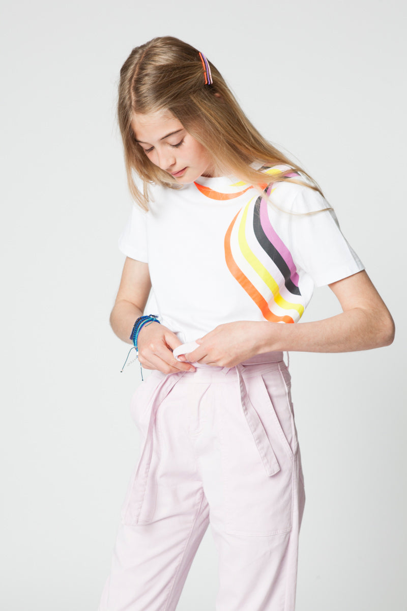 GABY RAINBOW WHITE T-SHIRT