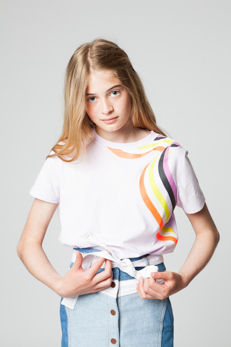 GABY RAINBOW BLUSH T-SHIRT