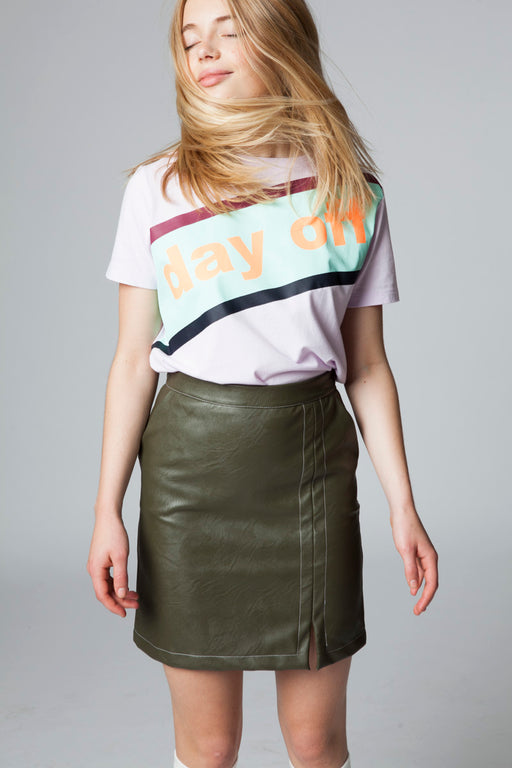 GABY DAY OFF BLUSH DIGITAL PRINTED T-SHIRT
