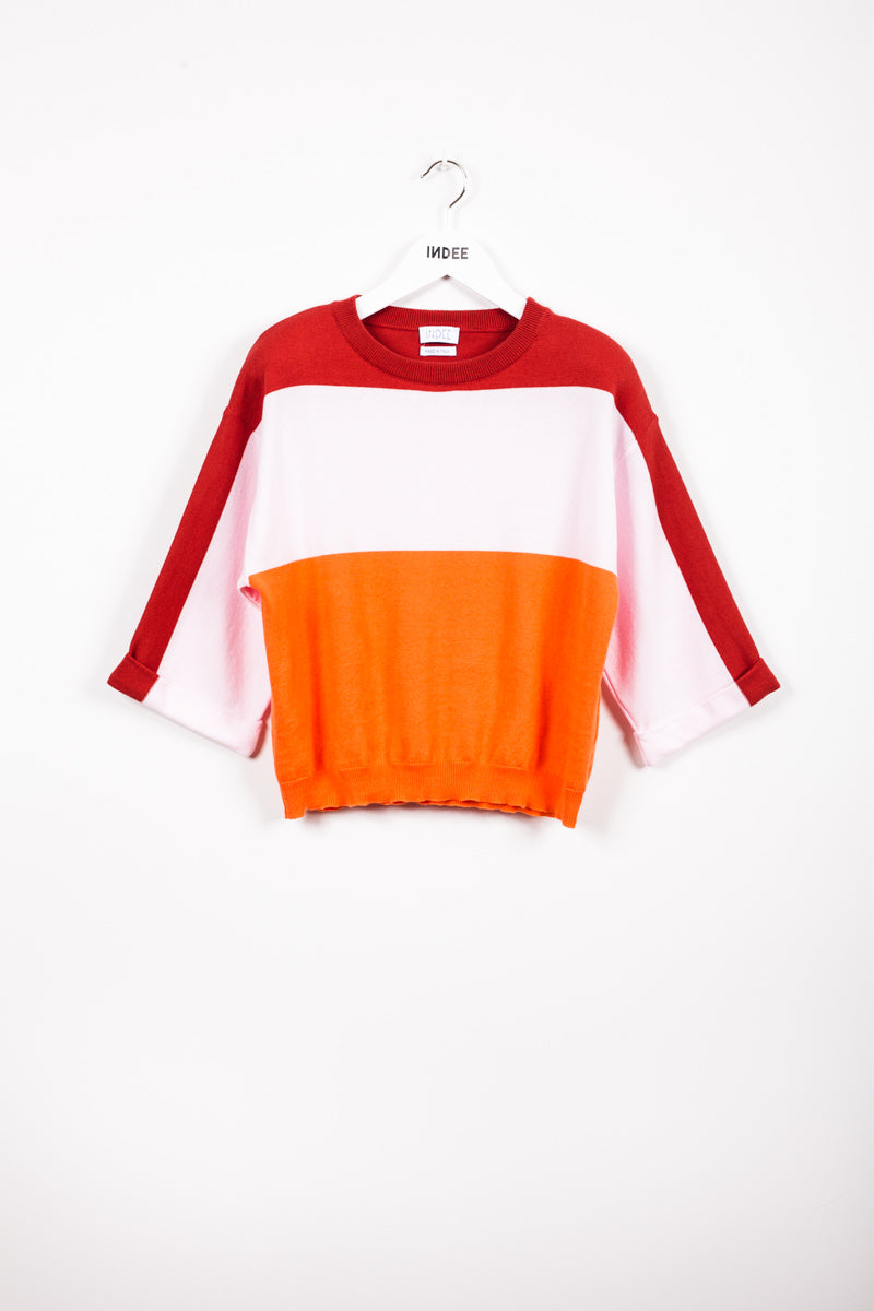 """JACAREI"" KNIT-SWEATER PAPAYA"