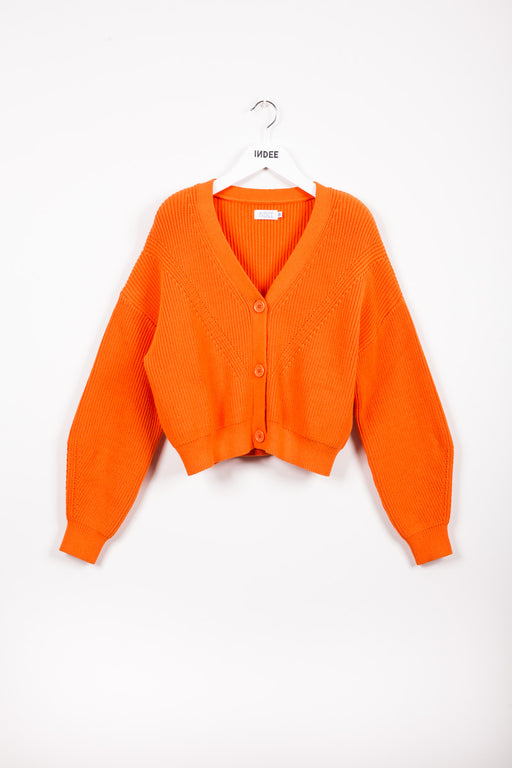 """JARDIN"" KNIT-CARDIGAN PAPAYA"