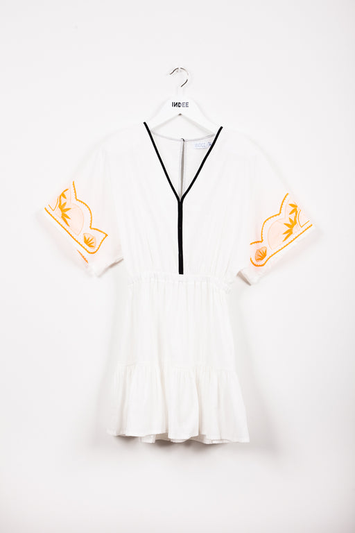 """JACARANDA"" DRESS OFF-WHITE"