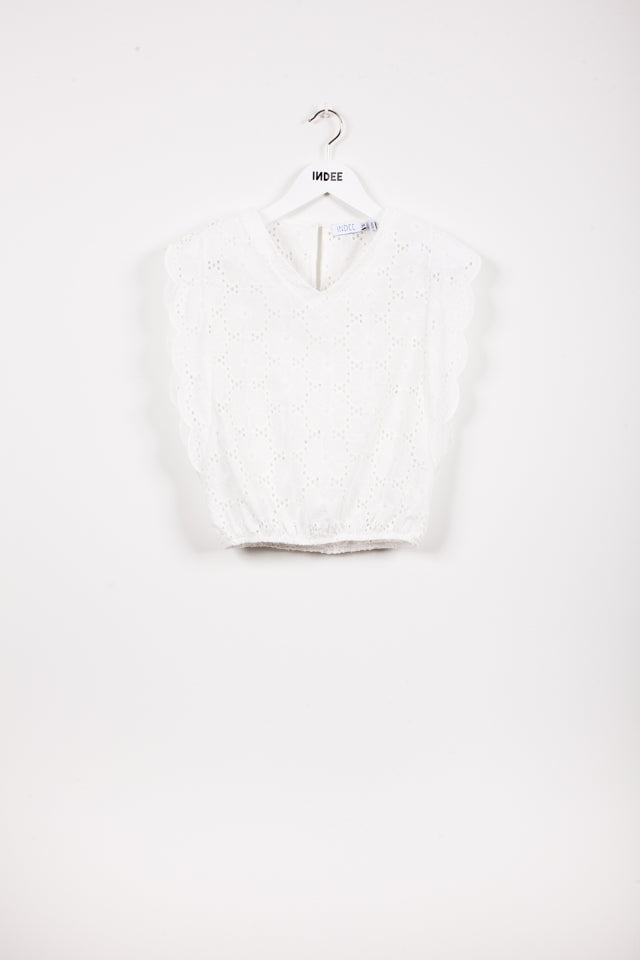 """JOB"" TOP OFF WHITE"