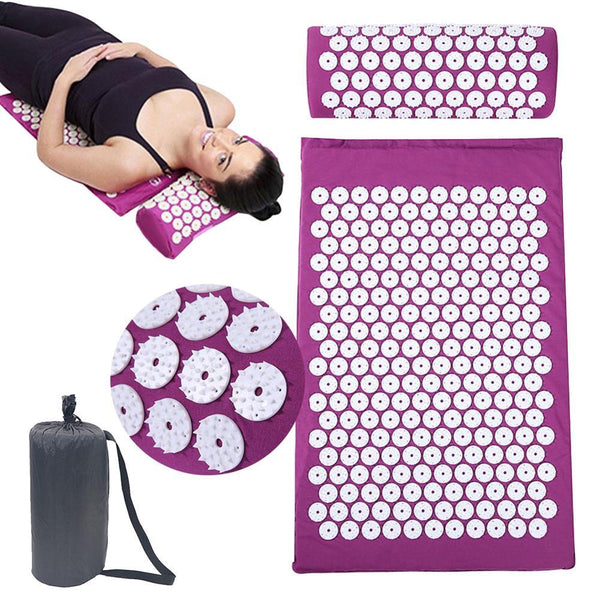 Acupressure Mat & Pillow with Carry Bag
