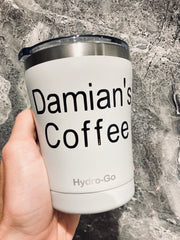 Personalise Your Hydro-Go Reusable Coffee Cup
