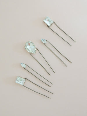 Petite Set of Aurora Rhinestone Hair Pins