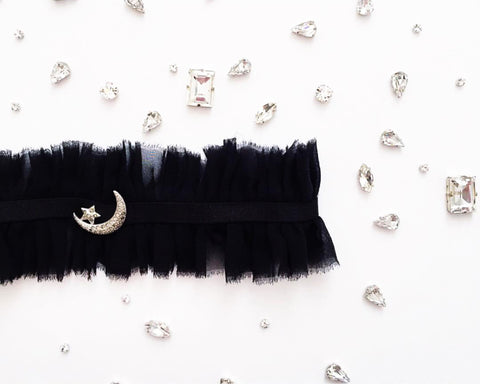 Crescent + Star Adjustable Garter