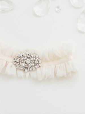 Charlotte Silk Chiffon Adjustable Garter