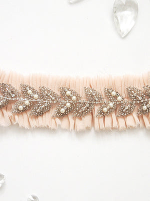 Talia Silk Chiffon Adjustable Garter