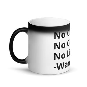 No Cap Matte Black Magic Mug