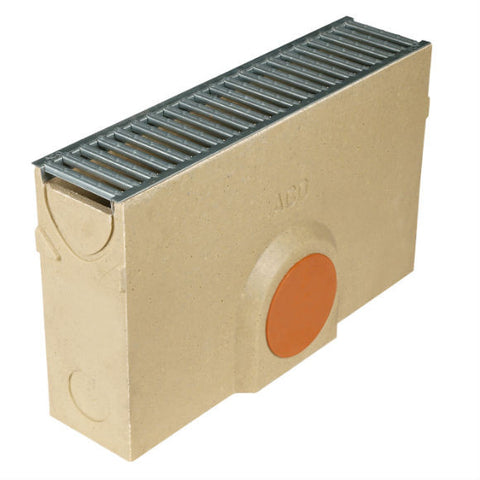 ACO RainDrain B 125 Sump c/w cast iron grating
