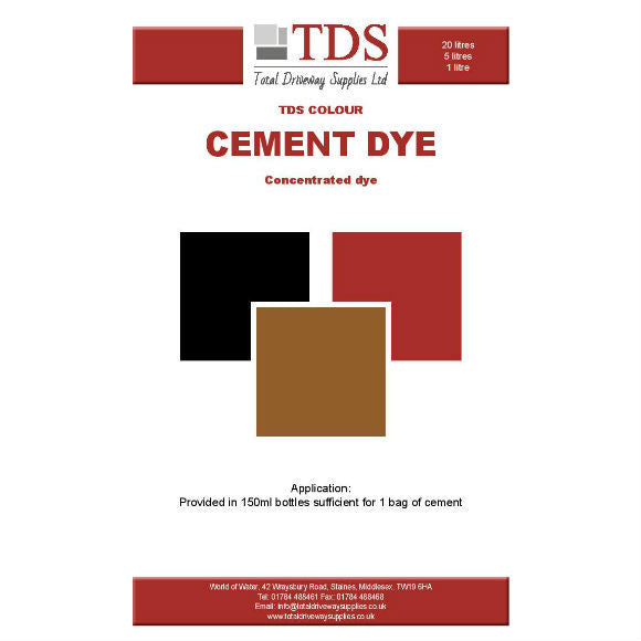 TDS Cement Dye - Available in Red, Black and Brown