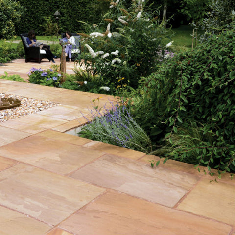 Creative Rivern Sandstone - Flags - 600 x 600 MM Covers 14.88 sqm